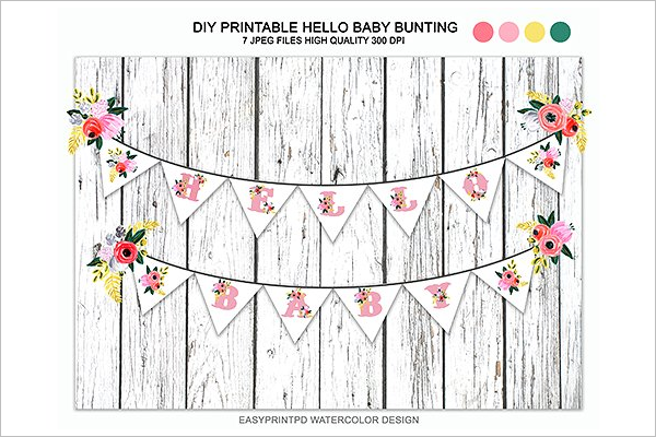 Diy Art Baby Shower Banner Design