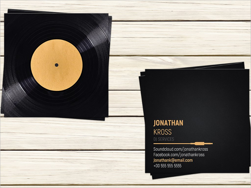 Dj Business Card Template