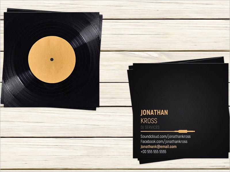 32 dj business card templates free download