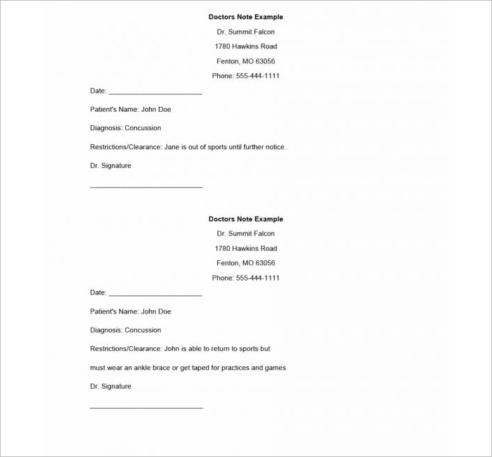 37+ Doctors Note Template Free PDF, Word Examples