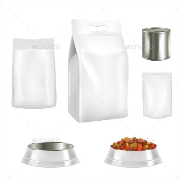 Dog Food Packaging Mockup