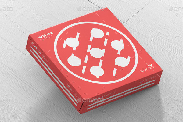 Double Layered Pizza Box Mockup