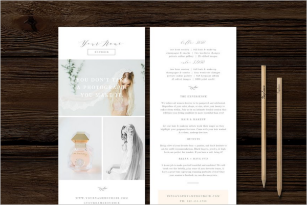 Double Sided Rack Card Template