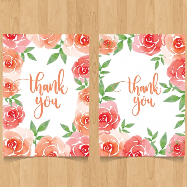 Download Floral Thank You Card Design