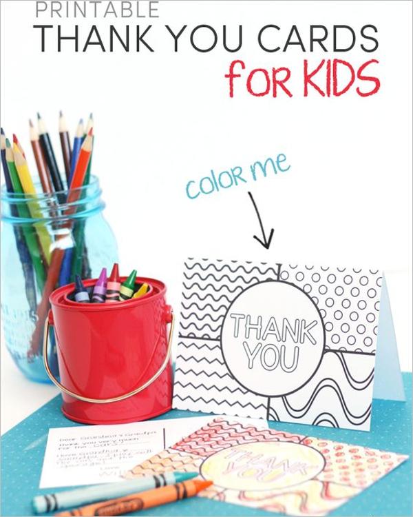 Download Kids Thank You Card Design