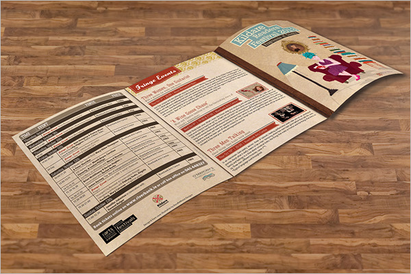 Download Retro Brochure Template