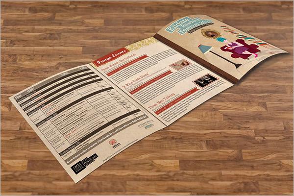 Download Retro Brochure Template
