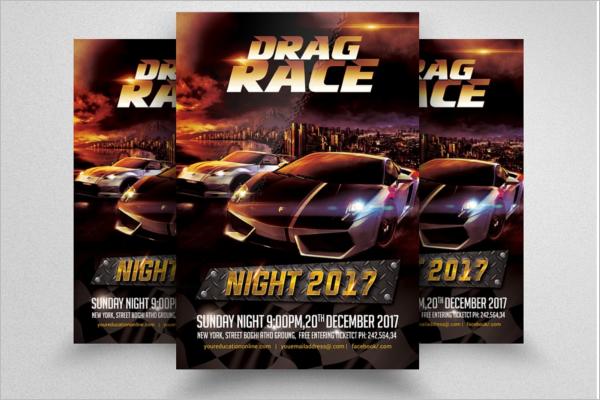 Drag Racing Flyer Template