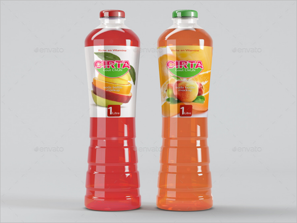 Drink Bottle Mockup Template
