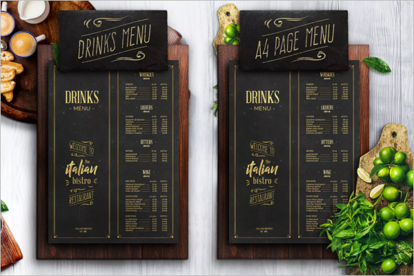 Drinks Menu Design Template