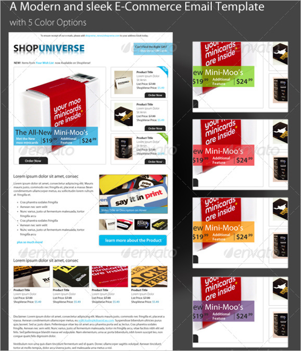 E-Commerce Email Template PSD
