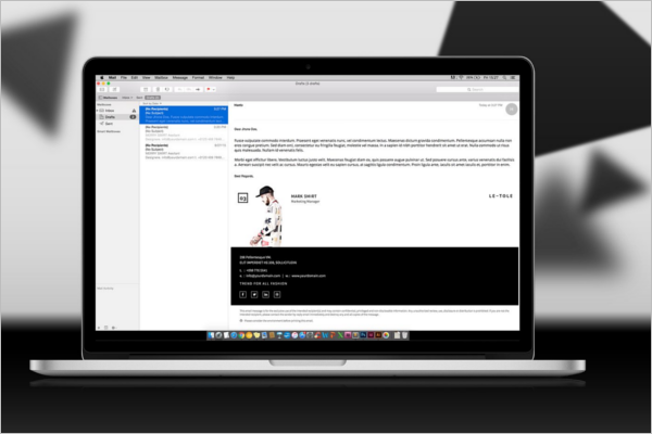 E-Mail Signature Design Template