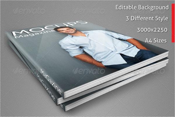 EditabeCover Magazine Mockup Design