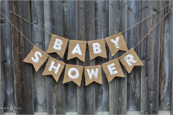 EditableBaby Shower Banner Template