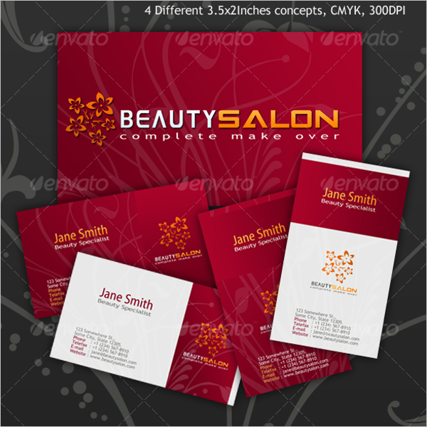 Editable Beauty Business Card Template