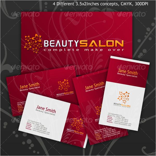 Editable Beauty Business Card Template
