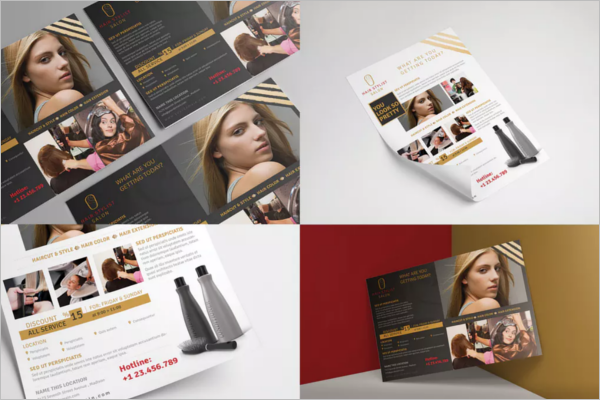 Editable Beauty Salon Flyer Template