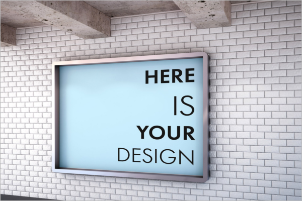 Editable Billboard Mockup Design