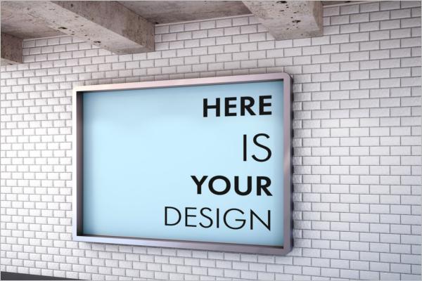 Editable Billboard Mockup Design