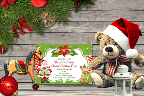 Editable Christmas Card Mockup Design