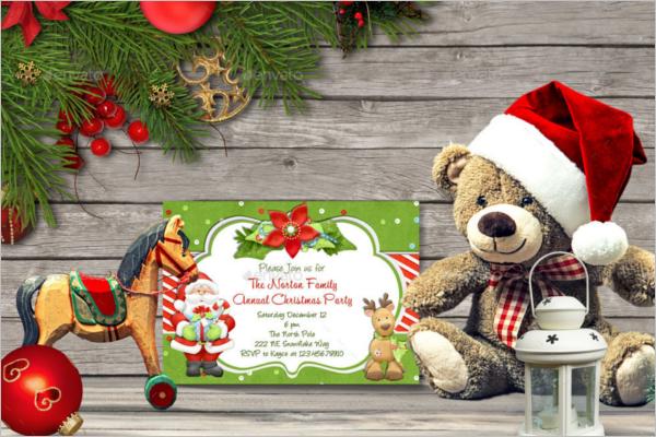 Editable Christmas Card Mockup Design