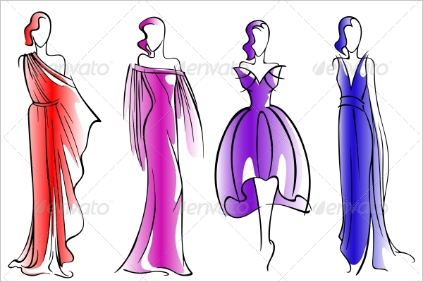 Editable Dress Design Template