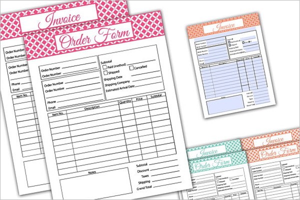 Editable Package Order Form