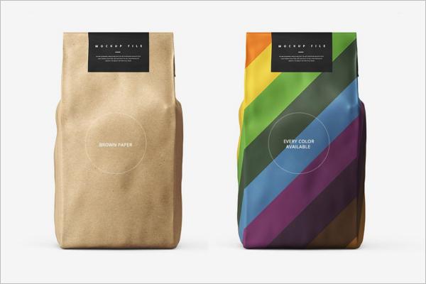 Editable Paper Bag Mockup Design