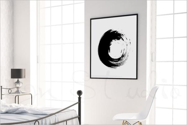 Editable Photo Display Mockup Design