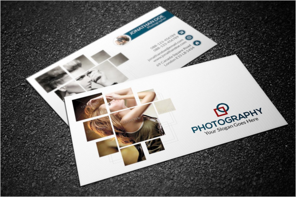 Editable Photographer Business Card Design