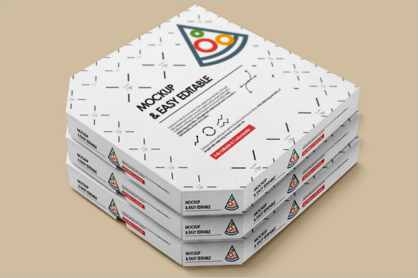 Editable Pizza Box Mockup