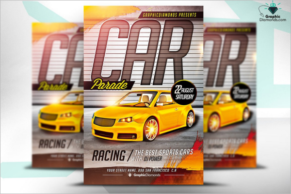 Editable Racing Flyer Template