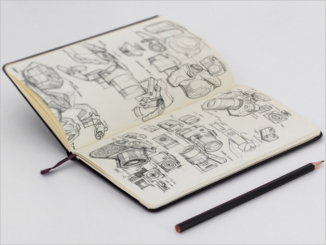Editable Sketchbook Mockup Design