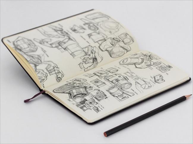 Editable Sketchbook Mockup Design