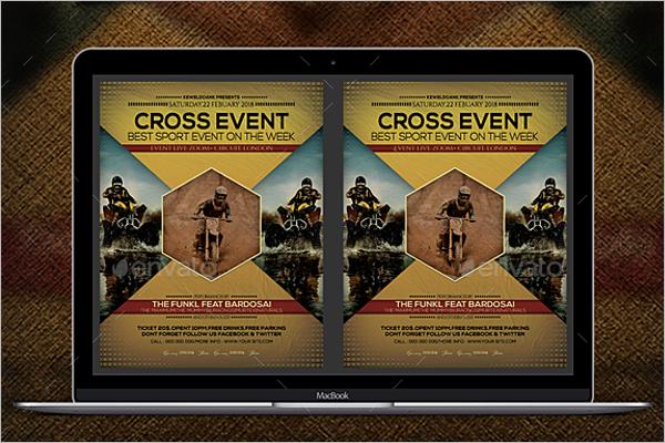 EditableSports Event Flyer Template