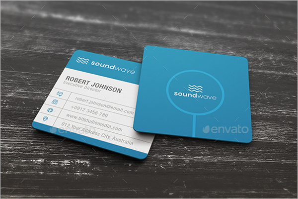 Editable Square Business Card Design