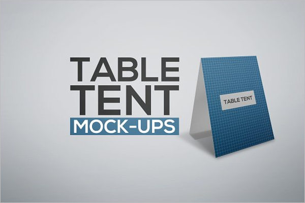 Editable Table Tent Mockup Template