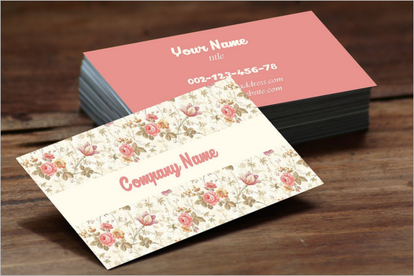 Editable Vintage Business Card Template