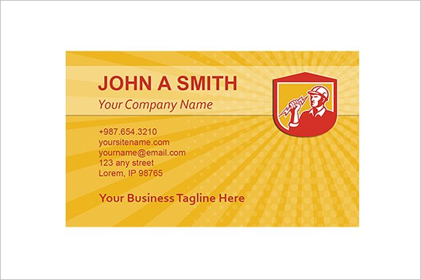 Electrician Business Cards Design Idea