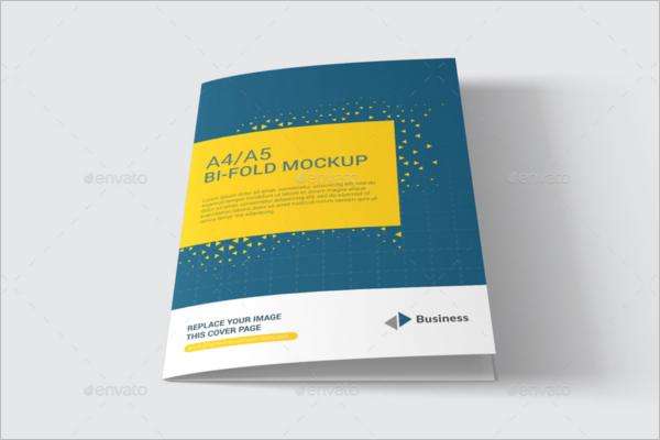 Elegant A4 Brochure Mockup Design
