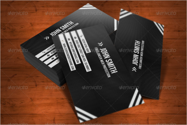 Elegant Black & White Business Card