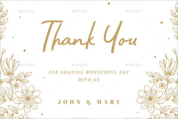 Elegant Floral Thank You Card Design
