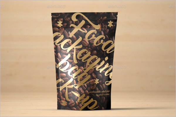 Elegant Food Bag Packaging Mockup