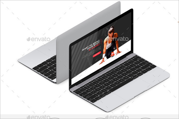 Elegant Macbook Mockup Design