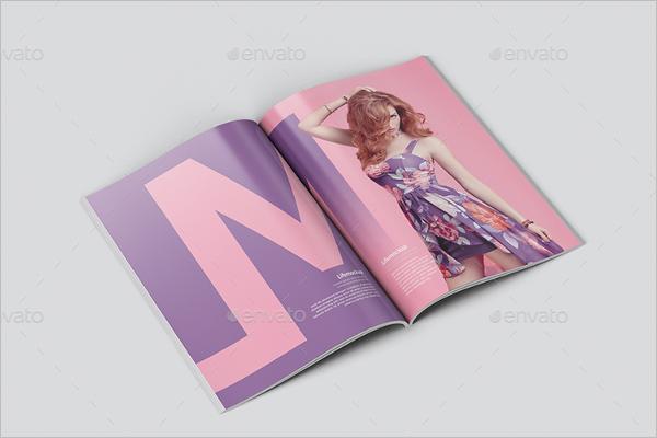 Elegant Magazine Mockup Template