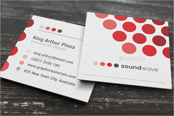 Elegant Square Business Card Design