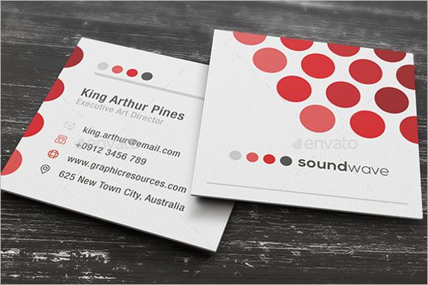 Elegant Square Business Card Design