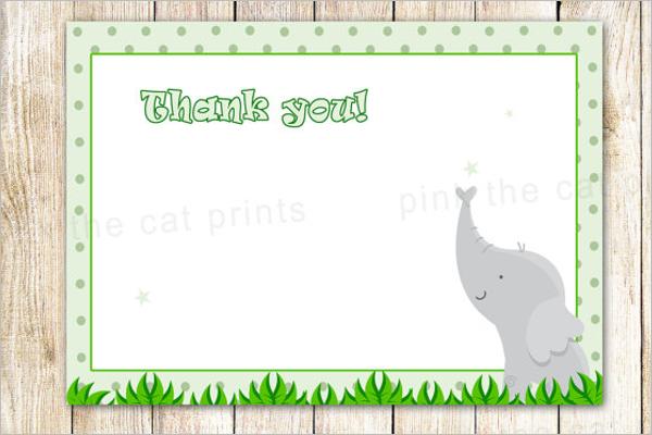 Elegant Thank You Card Template
