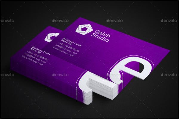 Elegant Visiting Card Mockup Design