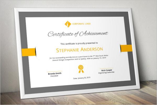 Elegant Word Certificate Template